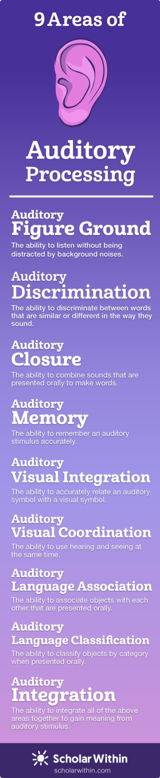 9 Areas of Auditory Processing
