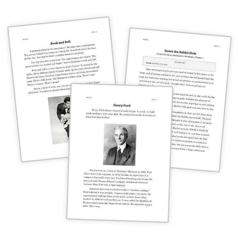 4th Grade Reading Curriculum Passages